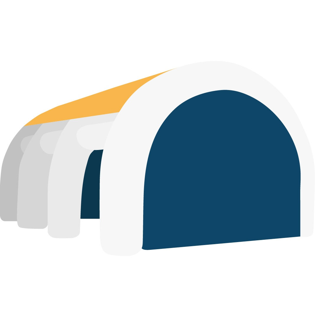 free mock up rendering-icon of an inflatable tent
