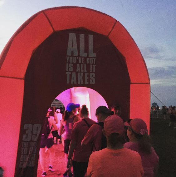 Illuminated Avon Tent for the Avon Walk For Breast Cancer