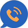 quick response icon with a telephone bubble