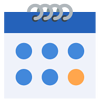 fast turnaround icon with a calendar hinting at the speed of the turnaround