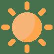 eye catching sun icon