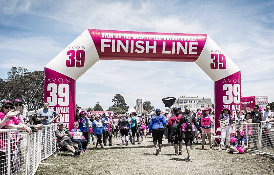 AVON inflatable finish line arch for the Avon walk for Breast Cancer