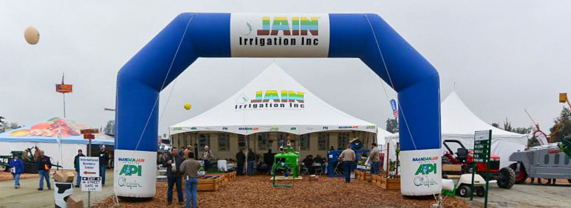 Jain irrigation blue inflatable arch