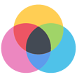 custom printed colors- color ven diagram icon
