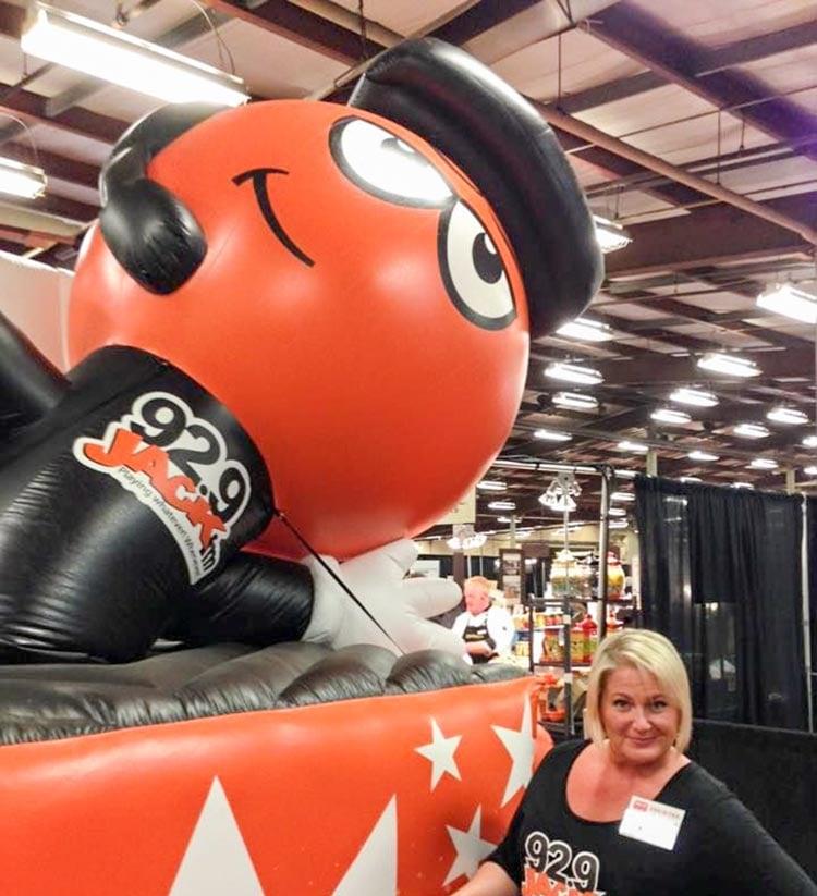 92.9 Jack FM custom inflatable character