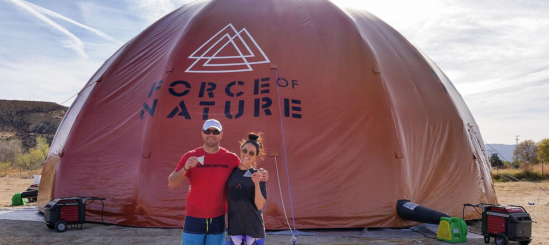 Inflatable Dome customized for Force of Nature