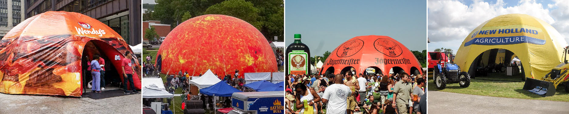 custom inflatable dome tents