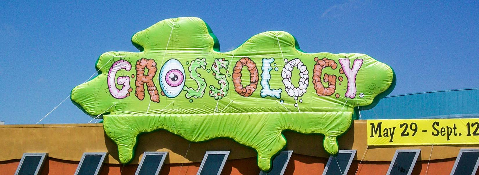 Grossology Science Center Custom Inflatable Sign with custom graphics and print