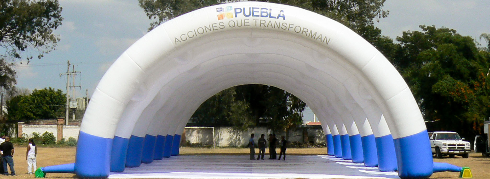 Puebla custom printed large inflatable tunnel for the State of Puebla in Mexico