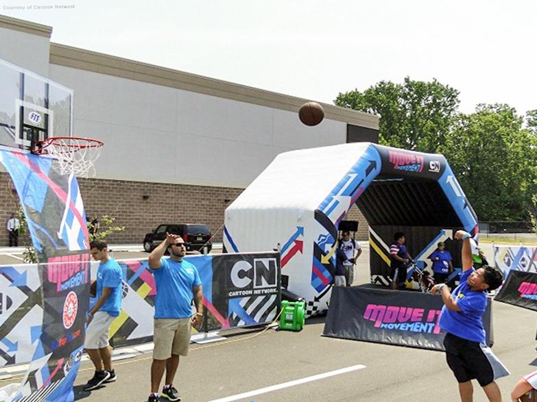 Custom Printed Cartoon Network Inflatable Tunnel