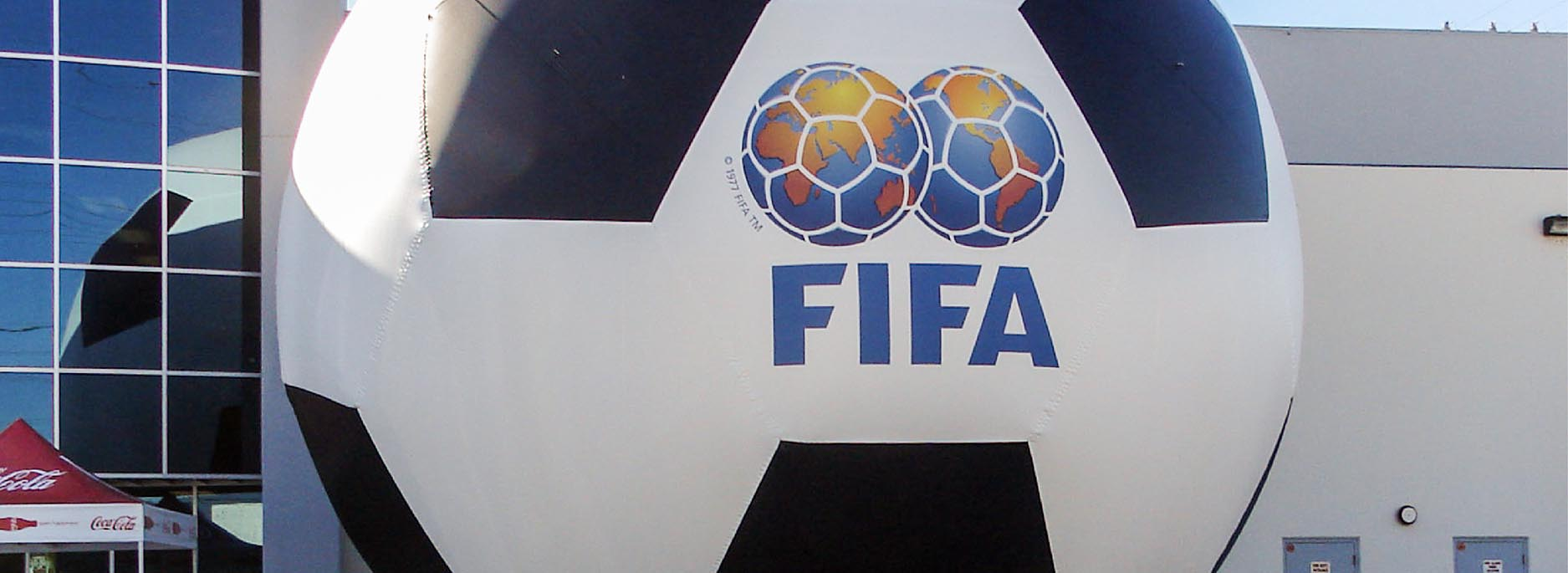 Inflatable FIFA soccer ball replica