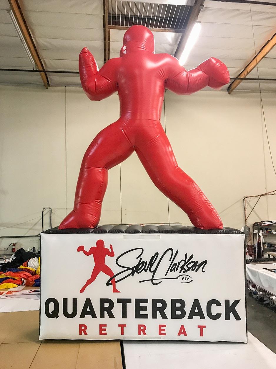 steve clarkson quarterback retreat custom sports inflatable
