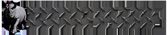 Rhino Roller Logo in Gray