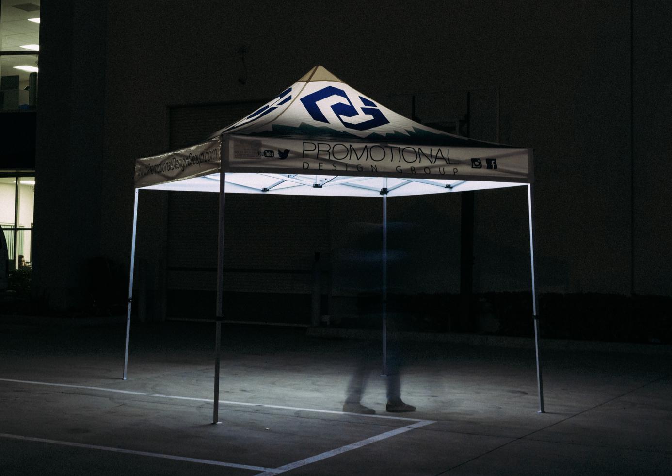 pop up tent lights with an illuminated pop tent