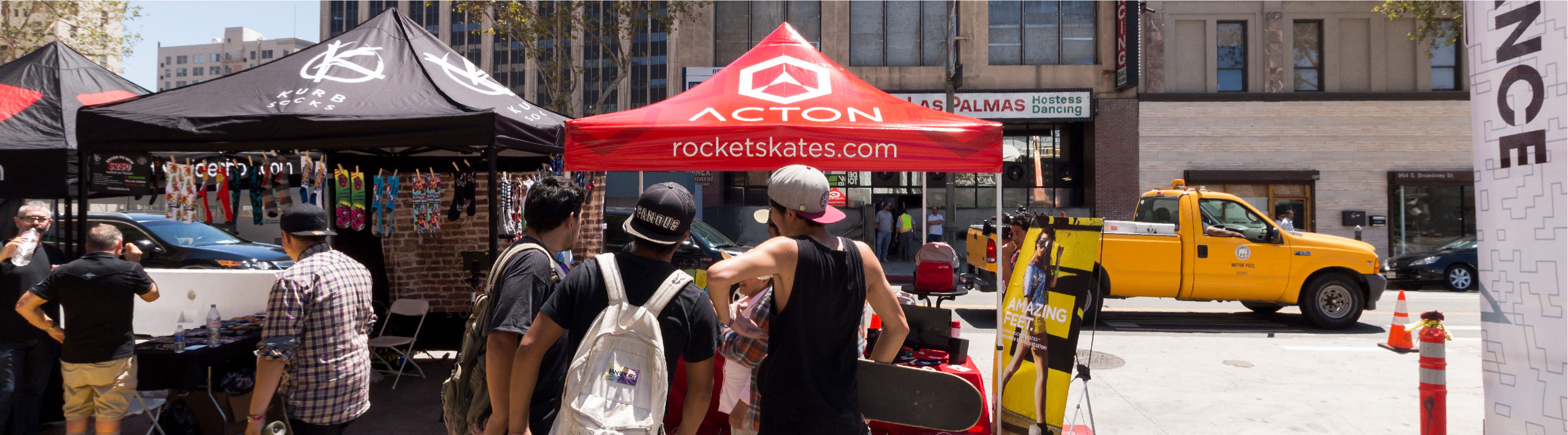 acton rocket skates bronze package with custom printed canopy tent top