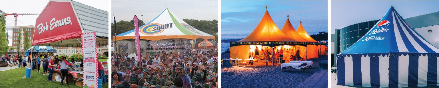 Bob Evans, Shout, Church of Scientology, and Pepsi Custom Frame Tents
