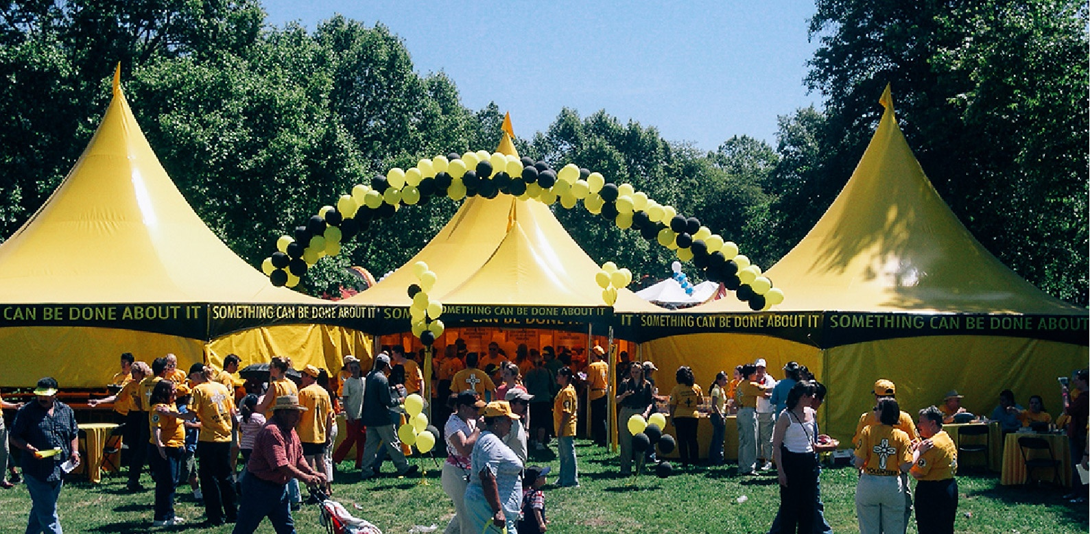 Church of Scientology 30x30 Yellow Custom Frame Tents