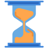 fast turnaround time- hourglass icon resembling time