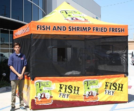 Joe's Fish Fry 10x10 Food Booth Canopy