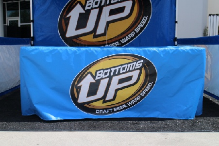Bottoms up custom printed table cover