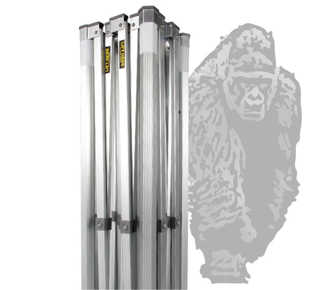 10x10 Gorilla Max frame closed with a gorilla logo on the background