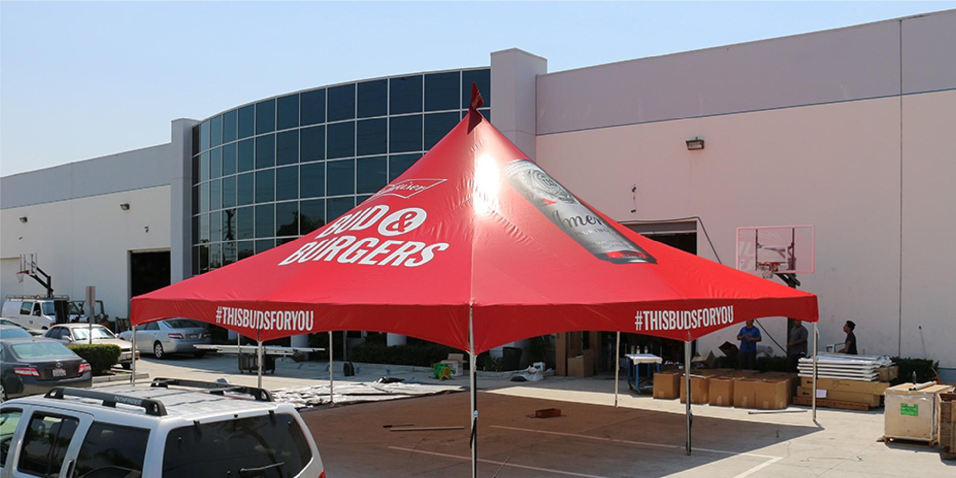 Budweiser 30x30 Red High Peak Tent