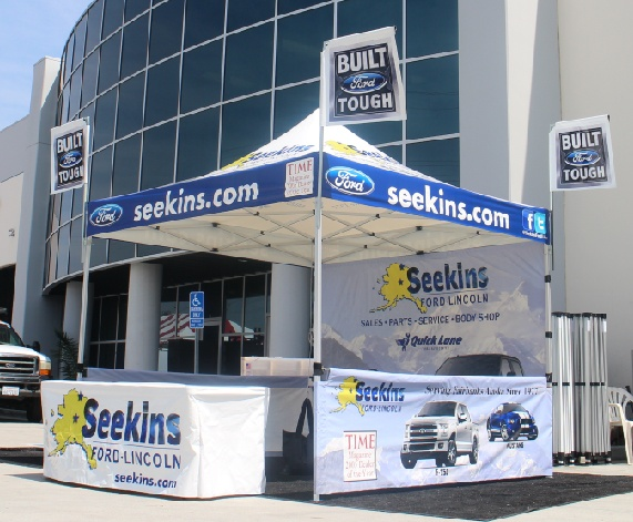 Ford Marketing Tent & Seekins Dealership Canopy