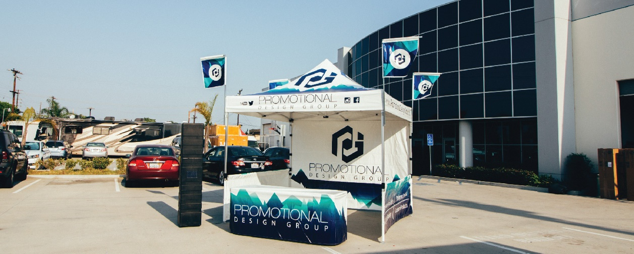 promotional design group (PDG) canopy flag tent package