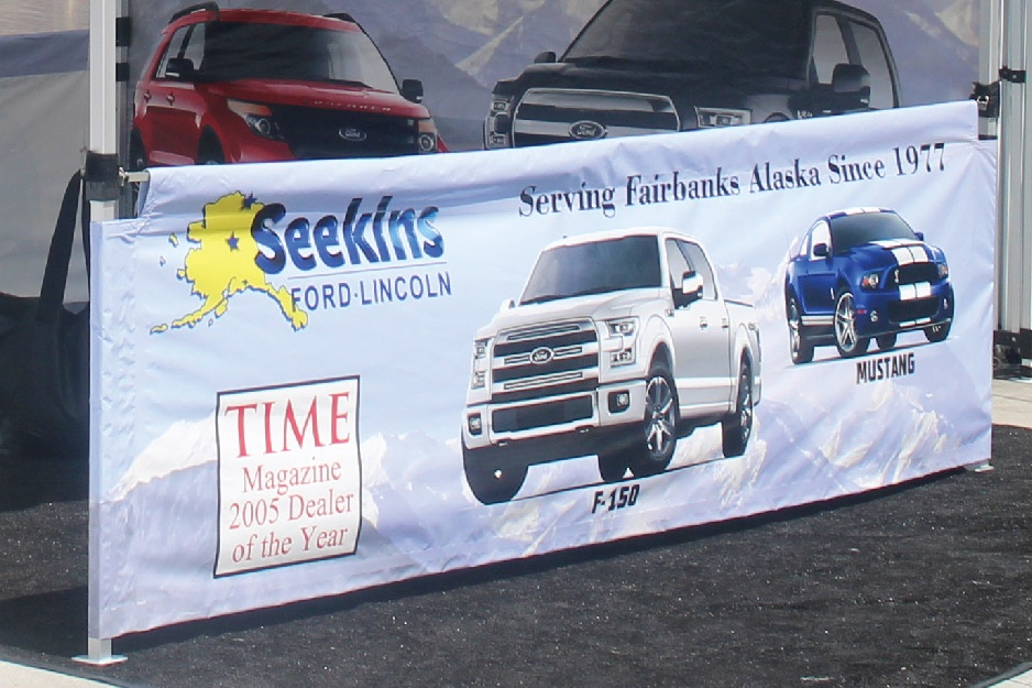 custom printed seekins ford lincoln f-150 mustang time magazine rail skirt short wall