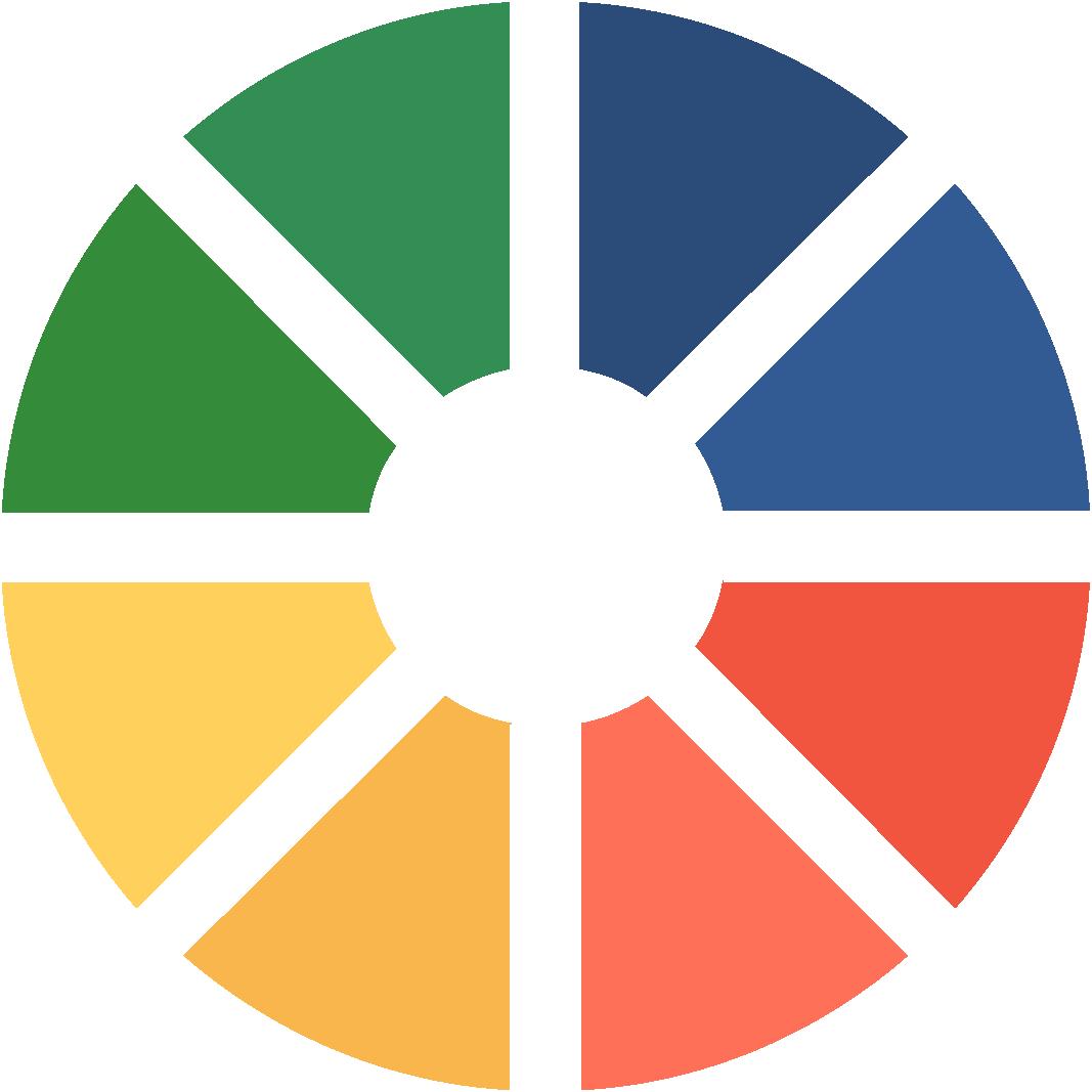 Custom Printed- Color Wheel Icon