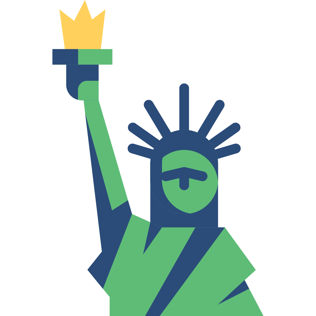 American Made Quality- statue of liberty icon