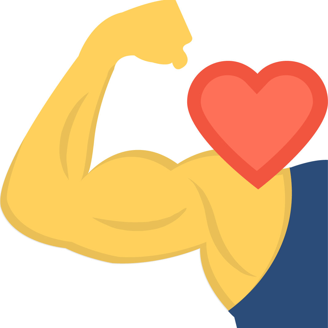 Heavy Duty- strong arm with heart icon