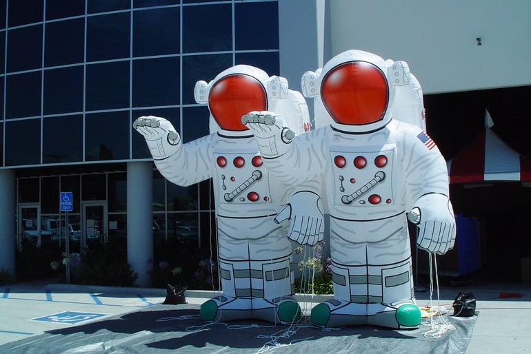 custom inflatable astronaut prop