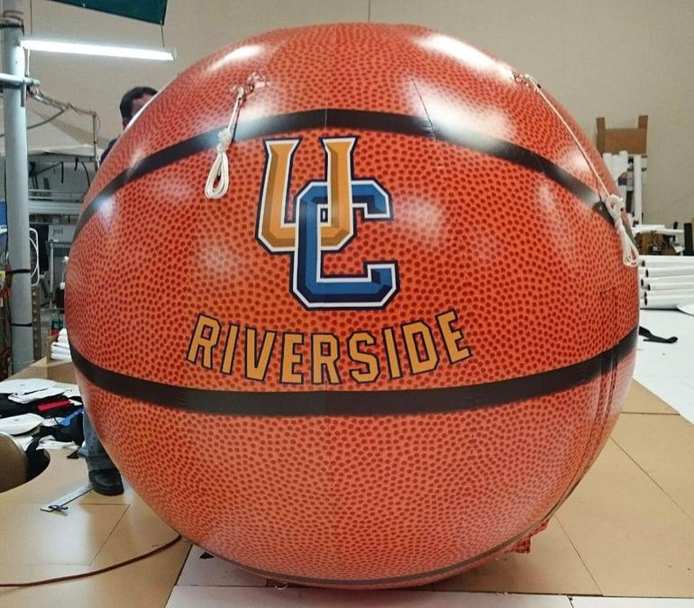 giant inflatable basketball prop UC Riverside