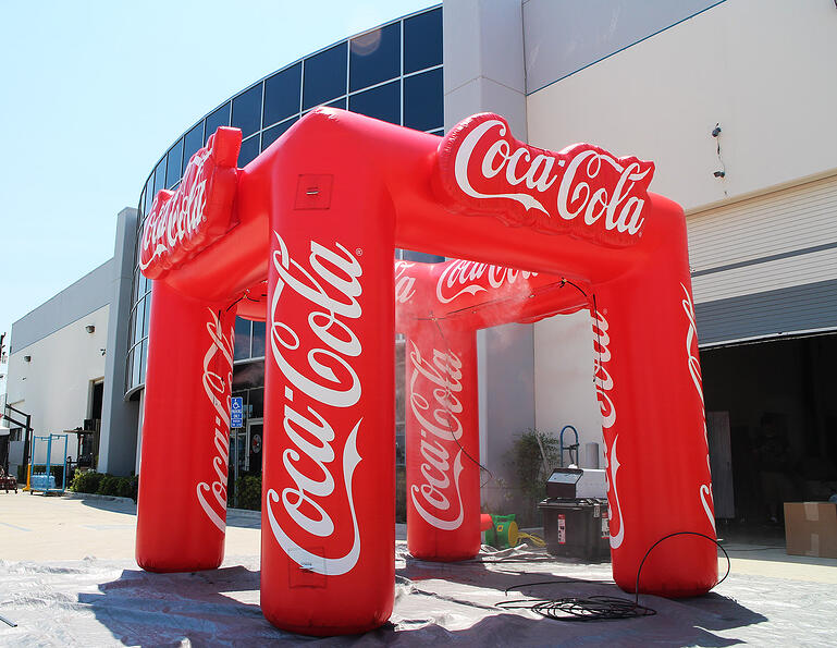 coca-cola inflatable misting canopy