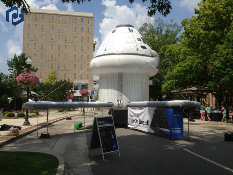 giant custom printed spacecraft prop