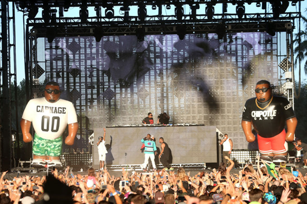 inflatable stage props DJ Carnage Coachella
