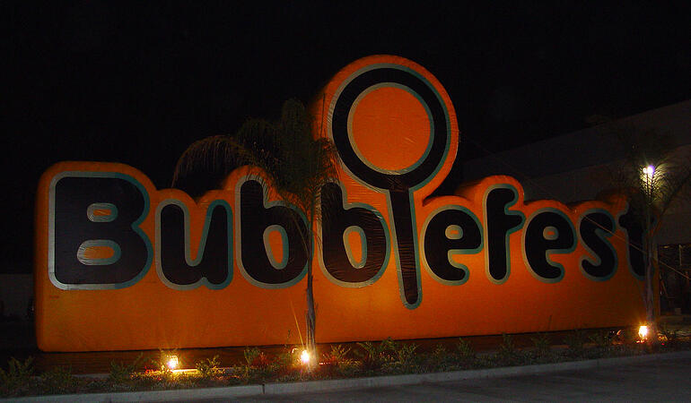 large inflatable sign