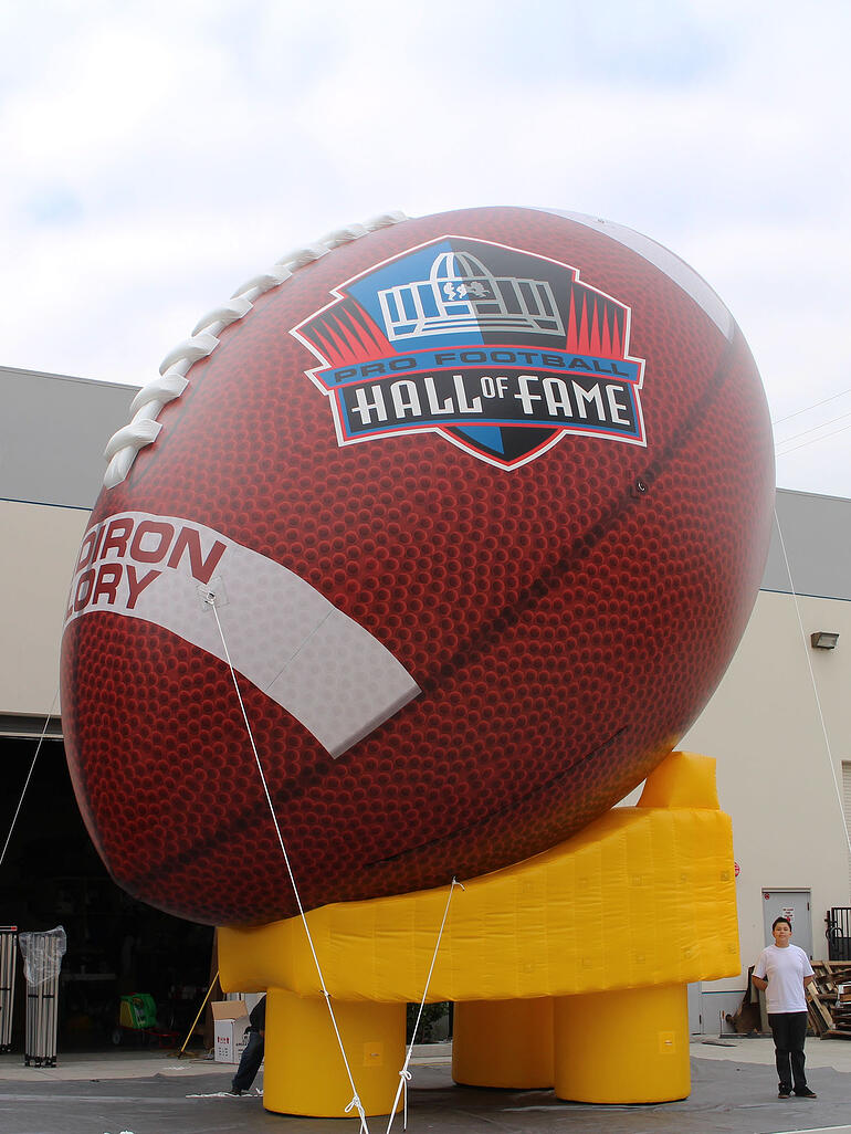 giant inflatable football detailed realistic printing