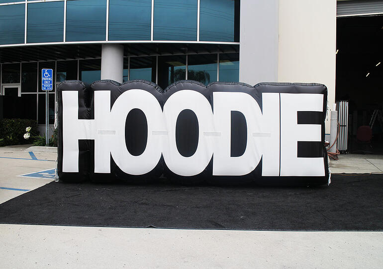 inflatable logo name sign