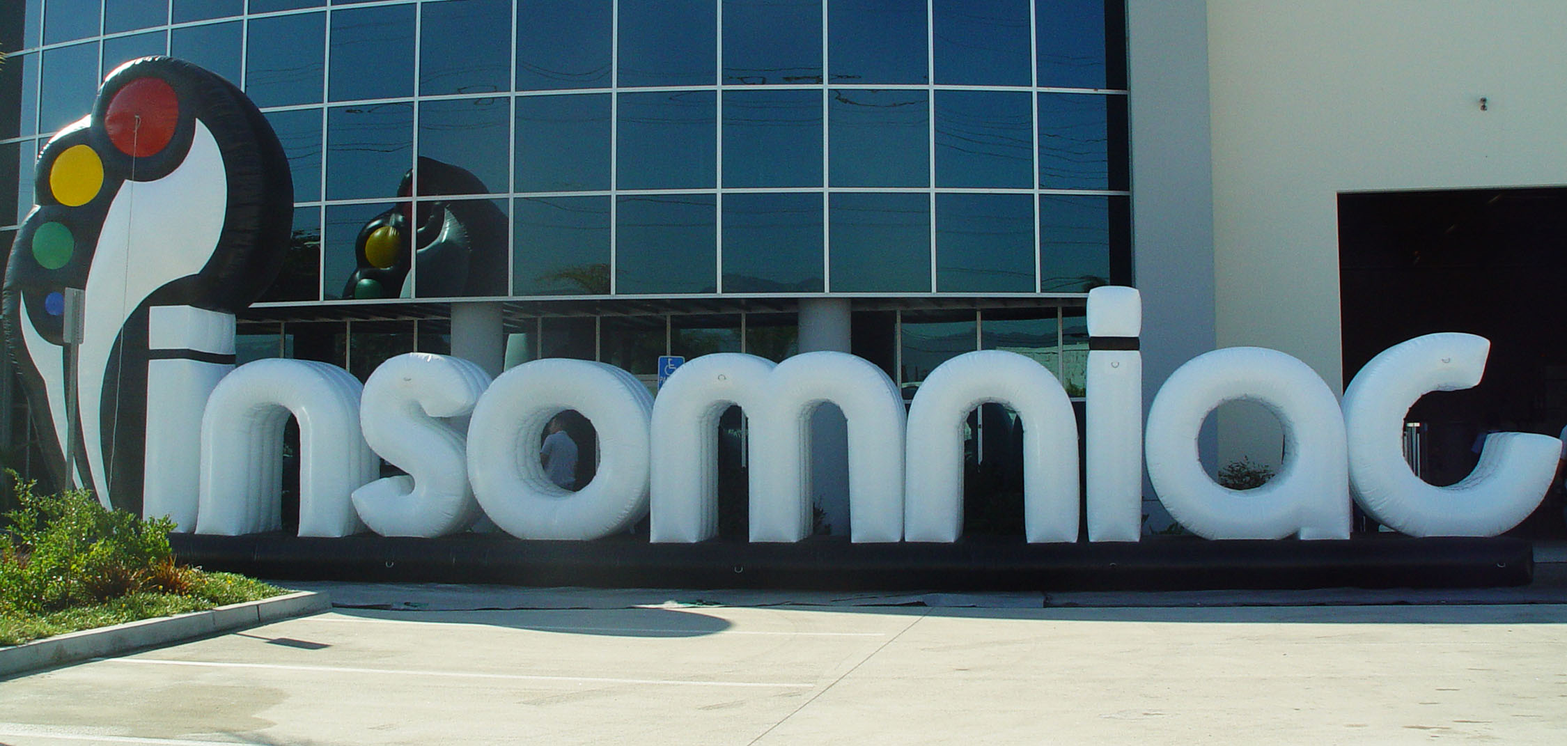 inflatable letters logo custom