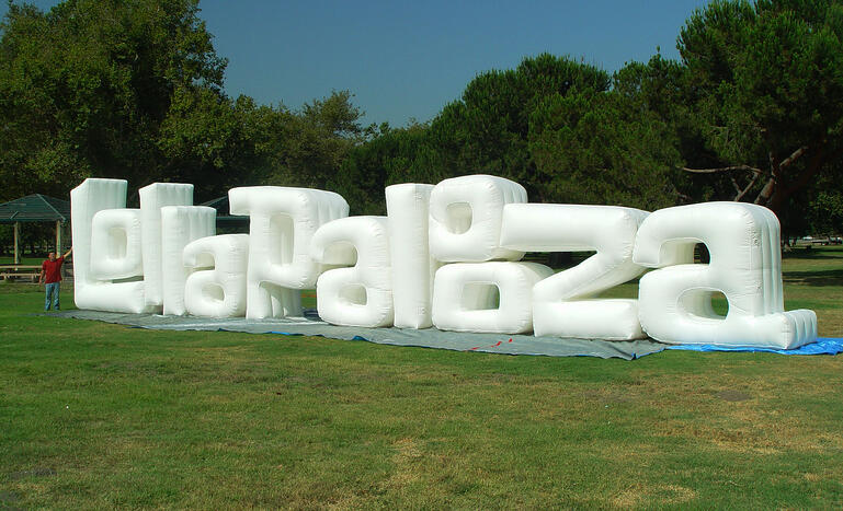 custom inflatable sign Lollapalooza