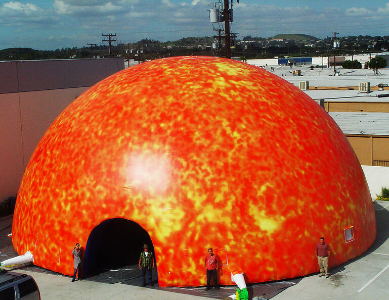 space dome inflatable