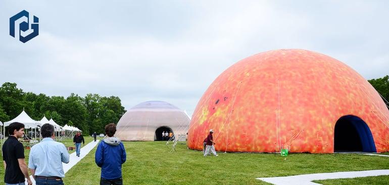 custom printed inflatable domes
