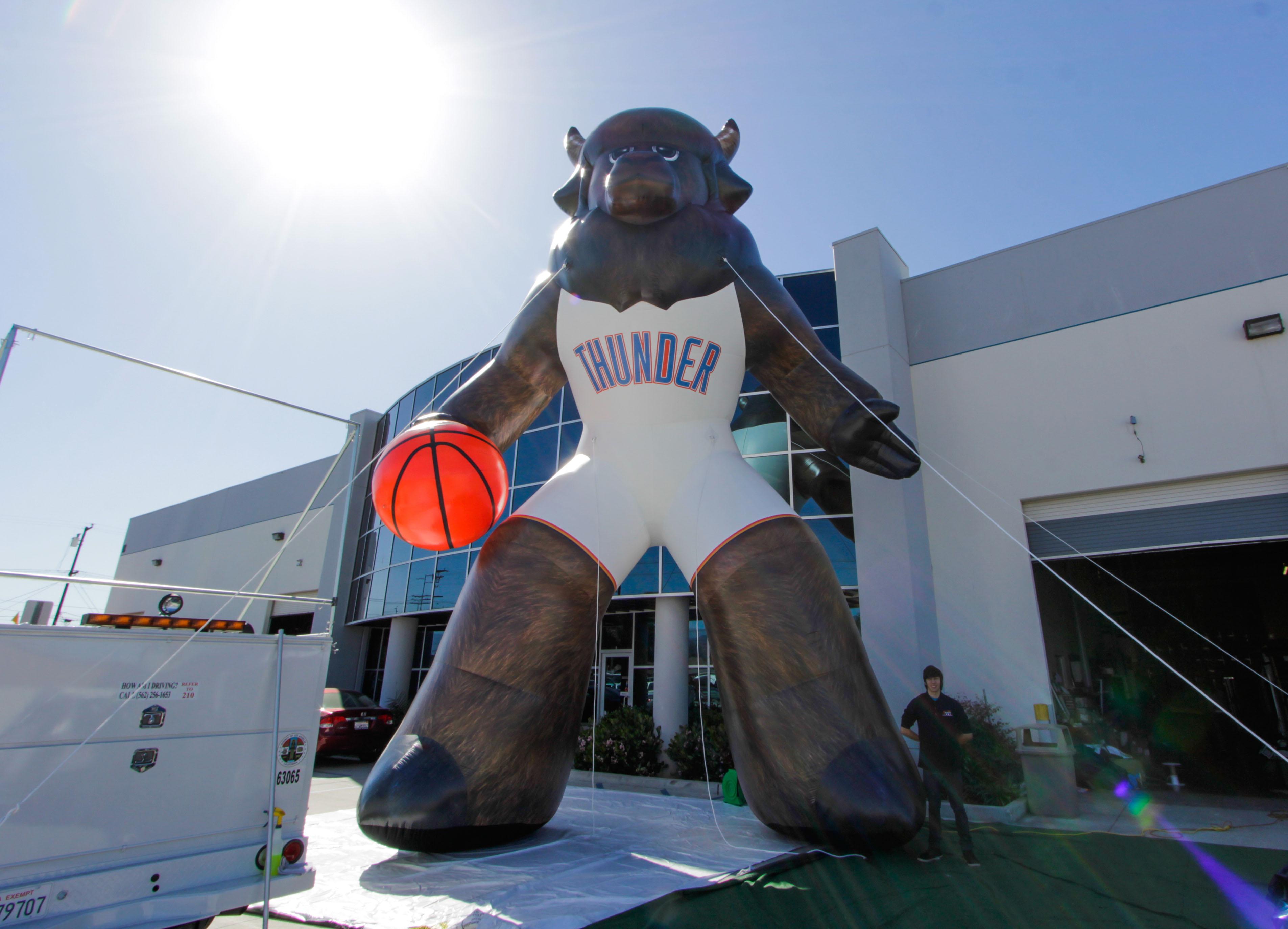 huge OKC Thunder Mascot Inflatable