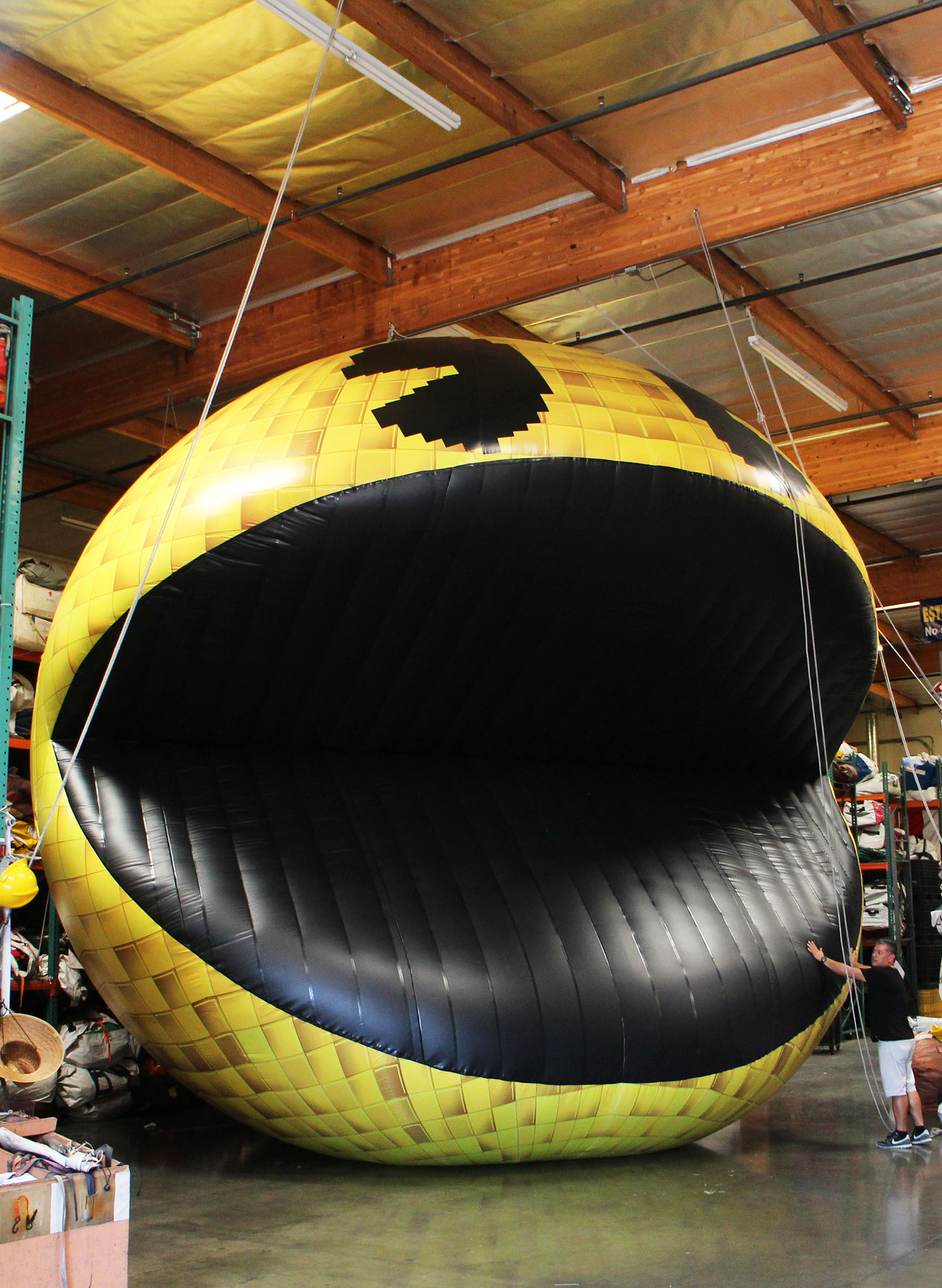 custom inflatable Pacman fully printed