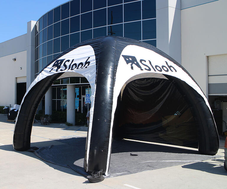 custom inflatable arched tent