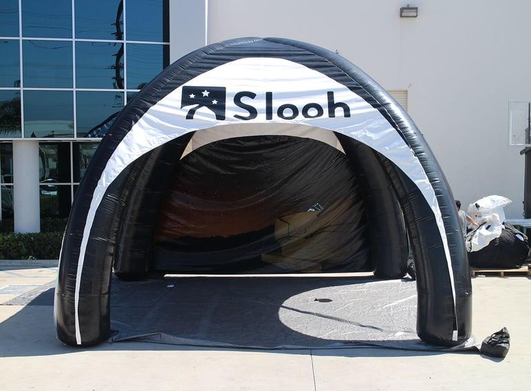 custom inflatable tent