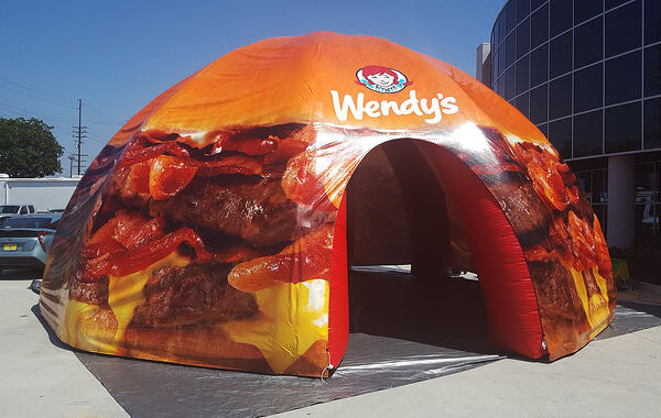 custom printed inflatable dome tent