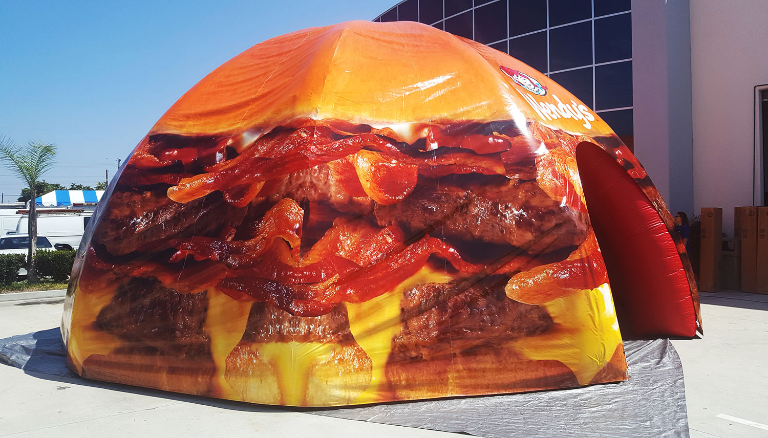custom printed inflatable dome canopy